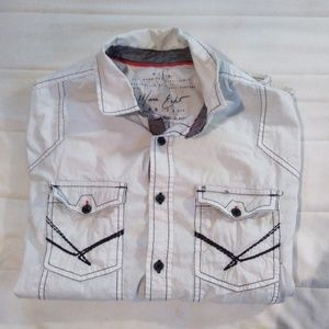 Marc Ecko White Cotton Button Down